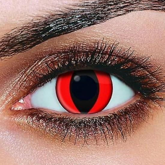 זוג עדשות עיני חתול אדום