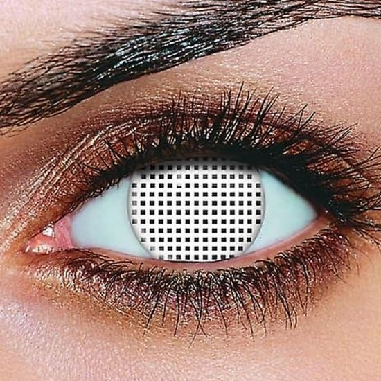 White Mesh Contact Lenses (Pair)